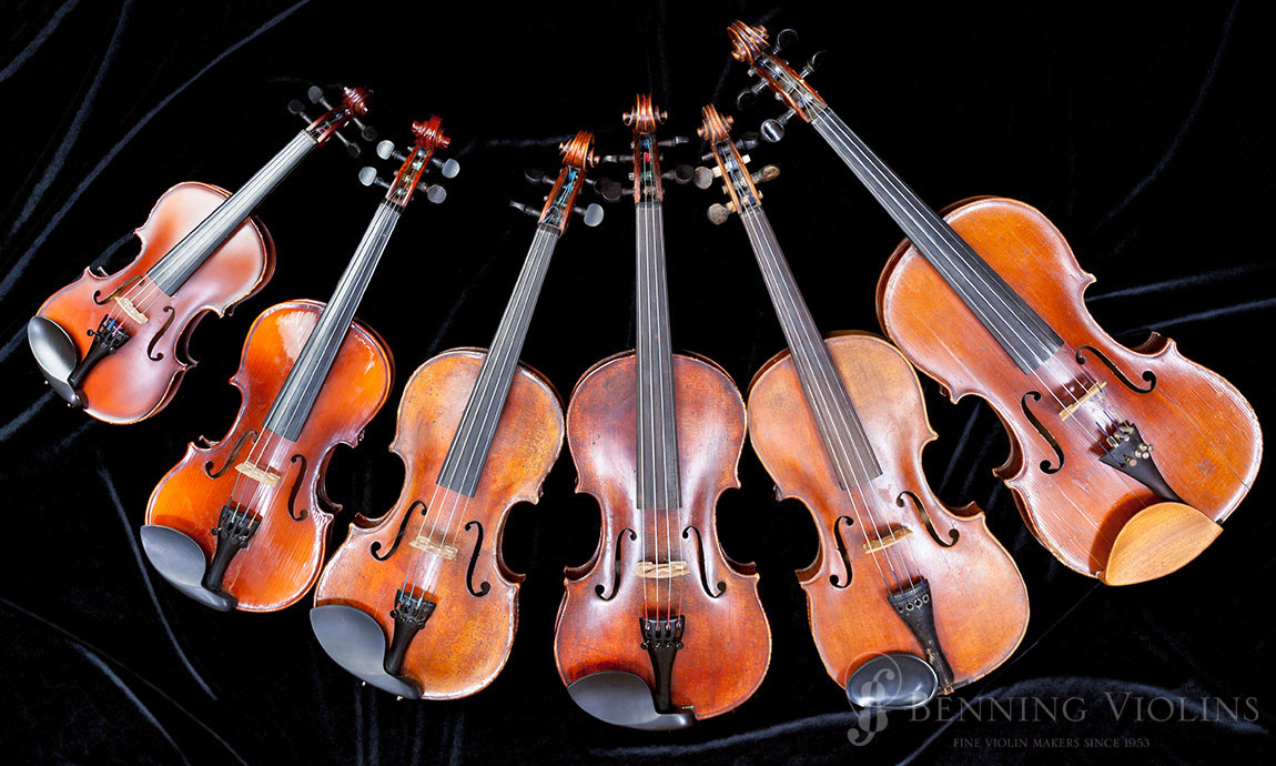Sizes of Violins